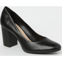Sapato Em Couro- Preto- Salto: 6,5Cmcapodarte