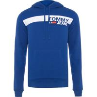 Blusa Masculina Essential Graphic Hoodie - Azul