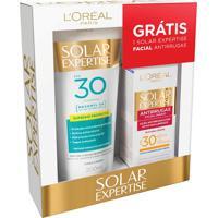 Kit Protetor Solar Loreal Expertise Fps30 200Ml Grátis Protetor Solar Facial Antirrugas Fps30 25G
