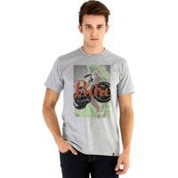 Camiseta Ouroboros Manga Curta Bike! - Masculino-Cinza