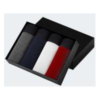 Kit 4 Cuecas Boxer - Cinza, Azul, Branca E Vermelha