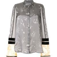 Mame Kurogouchi Blusa Com Estampa Floral - Cinza