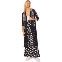 Kimono De Tule Bordado