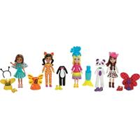 Conjunto De Bonecas - Polly Pocket Festa A Fantasia - Fantasias De Animais - Mattel - Feminino