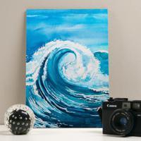Placa Decorativa - Blue Waves
