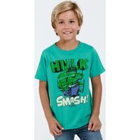 Camiseta Infantil Manga Curta Hulk Marvel