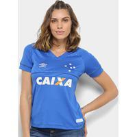 Camisa Cruzeiro I 18/19 S/N° C/ Patrocínio - Torcedor Umbro Feminina - Feminino