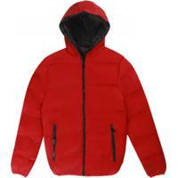 Jaqueta Bomber Fashion - Vermelho E Preto