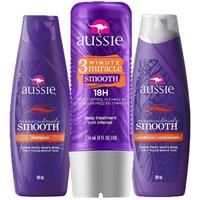 Kit Aussie Miraculously Smooth: Shampoo + Condicionador 180Ml + Tratamento Aussie 3 Minute Miracle Smooth Frizz 236Ml Incolor
