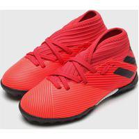 Chuteira Adidas Infantil Nemeziz 19 3 Society Jr Coral