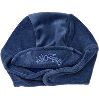 Touca De Bebê Ano Zero Unisex Com Protetor De Orelhinha - Azul Jeans