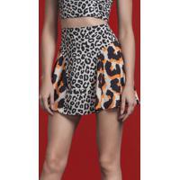 Saia Estampada Cintura Alta Leopardo - Lez A Lez