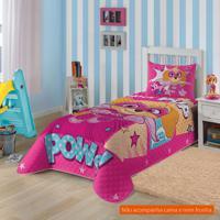 Colcha Infantil Patrulha Canina (150X210) Algodão Pink