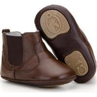 Botina Infantil Em Couro Capelli Boots Masculina - Masculino-Marrom