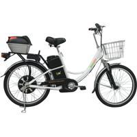 Bicicleta Elétrica Bio Bike , Quadro Em Aço, Modelo Confort Branca