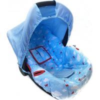 Capa Para Bebê Conforto Alan Pierre Baby 0 A 13 Kg Avião Azul Com Vermelho