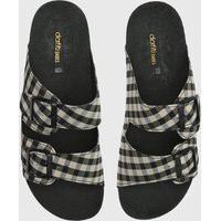 Rasteira Birken Dafiti Shoes Xadrez Cinza/Preto