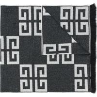 Givenchy Cachecol De Cashmere Com Logo - Preto