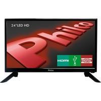 """Tv Led Hd Philco 24"""" Ph24N91D Com Receptor Digital Integrado 1 Hdmi 1 Usb E Áudio Surround"""
