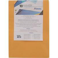 Envelope Saco Foroni Kraft Ouro 260X360Mm Com 10 Unidades