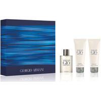 Kit Giorgio Armani Acqua Di Gio Eau De Toilette 50Ml + Body Lotion 75Ml + After Shave Balm 75Ml Masculino - 1 Unidade Único