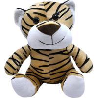 Tigre De Pelúcia 28Cm Sentado