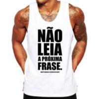 Camiseta Regata Criativa Urbana Frases Engraçadas Não Leia - Masculino-Branco