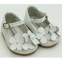 Sapato Em Couro Carambola - Feminino-Branco