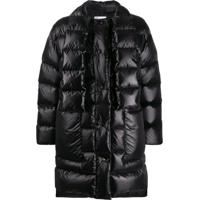 Red Valentino Scarf Detail Padded Coat - Preto