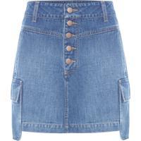 Minissaia Jeans Cargo - Azul