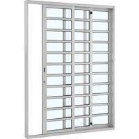 Porta De Alumínio De Correr Alumifort Branca Com Divisão 3 Folhas Abertura Direita 216X160X12 - Sasazaki - Sasazaki