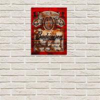 Placa Decorativa Em Mdf Cerveja Budweiser Oldschool Antigo 20X30 Único