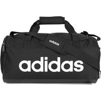 Mala Adidas Linear Duffel - Unissex-Preto+Branco