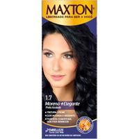 Tintura Maxton Creme Kit Prático 1.7 Preto Azulado Morena Elegante