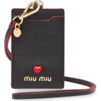 Miu Miu Porta-Cartões Com Logo - Preto