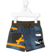 Dolce & Gabbana Kids Short Jeans - Azul