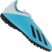 Chuteira Society Adidas X 19.4 Tf - Adulto - Aqua