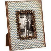 Porta-Retrato De Madeira Decorativo Com Strass Waves