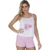 Baby Doll Click Chique Sem Bojo Com Elástico Embutido Rosa