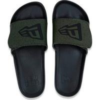 Chinelo Slip-On Branded New Era - Masculino-Verde Militar