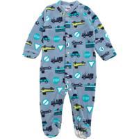 Pijama Tip Top Longo Menino Carros Azul