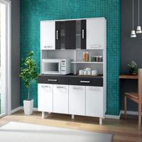 Cozinha Compacta Atenas 8 Pt 2 Gv Branco E Preto