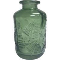 Vaso Folhagem- Incolor & Verde Escuro- 10Xã˜6Cm- Full Fit