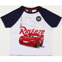 Camiseta Infantil Estampa Carros Recorte Disney