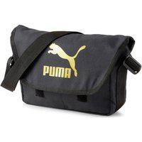 Bolsa Puma Originals Urban Messenger 078007-01, Cor: Preto/Dourado, Tamanho: Unico