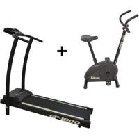 Esteira Ergométrica Ep-1600 E Bicicleta Ergométric - Unissex-Preto