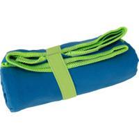 Toalha De Microfibra Compacta Oxer De Rápida Absorção Towel - 58Cm X 82Cm - Azul/Verde Cla