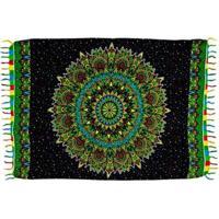 Canga Shopping Bali Mandala Rainbow 7 - Feminino-Verde Escuro