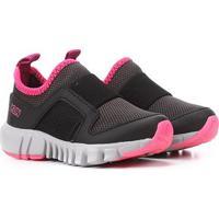 Tênis Infantil Klin Baby Jump - Feminino-Preto+Pink