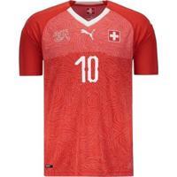 Camisa Puma Suíça Home 2018 N°10 Xhaka Masculina - Masculino